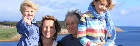 Paul, Katja, Poppy and Sunny from Paul's Place - Kangaroo Island